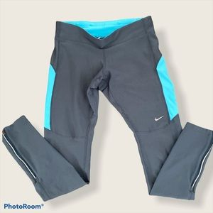 Nike Epic luxe gray & blue running tight